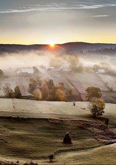 Морозний ранок над полями Буковини... Вражає! ,  W Ukraine, from Iryna