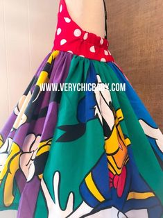 Minnie Mouse Dress   Etsy Mickey Mouse Dress, Minnie Dress, Minnie Mouse, Girls Christmas Dresses, Ann Doll, Mickey Mouse Birthday, Birthday Dresses, Dress With Bow, Tie Dye Skirt