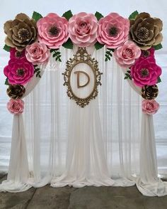 A beautiful flower backdrop made for Haydee's baby shower. Thank you 🌿💖… – Jenita M. A beautiful flower backdrop made for Haydee's baby shower. Thank you 🌿💖… A beautiful flower backdrop made for Haydee's baby shower. Thank you 🌿💖🌸 Paper Flower Wall, Paper Flower Backdrop, Giant Paper Flowers, Paper Roses, Wedding Flower Backdrop, Birthday Party Decorations, Baby Shower Decorations, Wedding Decorations, Birthday Parties