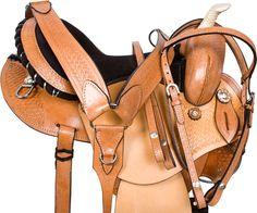Natural Round Skirt Gaited Western Horse Saddle Tack 14