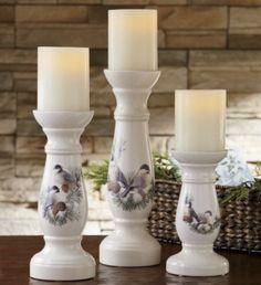 Set of 3 Winter Bird Candlesticks from Ginny's ® | ZS41754