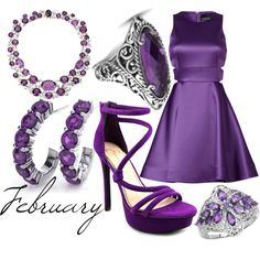 Amethyst by elli-jane-xox on Polyvore featuring Cynthia Rowley, Jessica Simpson, Carolyn Pollack/Relios, Verdura and Malaika