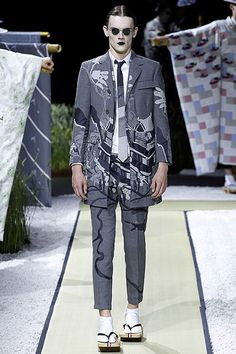 Going East: Thom Browne Men's Spring 2016   Hint Fashion Magazine