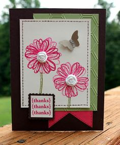 AnnMarie's Stamping Adventures!!: - pretty & easy flower card Stampin' Up Flower Shop stamps - cute!