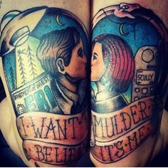 Double X Files tattoo Mulder and Scully <3