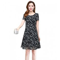 Irregular Lines Printed Slim Round Neck Mini Dress and Many More Latest Fashion Trends Online Shopping in UAE Dubai with Best price for Women Dresses, Sandals, Handbags, Jewelry and Watches Buy Now from BusinessArcade On Cash on Delivery. Striped Dress, White Dress, Mini Dresses For Women, Lace Vest, White Wedding Dresses, Lace Design, Black Pattern, Green Dress, Latest Fashion Trends