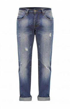 Ανδρικό παντελόνι denim με μπογιά   Παντελόνια τζίν - Jeans & Pants, Fashion, Trouser Pants, Moda, Fashion Styles, Women's Pants, Women Pants, Fashion Illustrations, Trousers