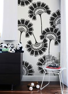 Wall Stencil Oriental Asian Large Flowers Pattern Allower Wall Room Decor Made by OMG Stencils Home Improvements Color Paintings 0073
