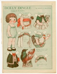 82.295: Dolly Dingle | paper doll | Paper Dolls | Dolls | National Museum of Play Online Collections | The Strong