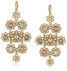 Guess gold tone crystal imitation pearl chandelier earrings 22 guess gold tone crystal imitation pearl chandelier earrings 22 liked on polyvore featuring jewelry earrings gold chandelier earrings gol aloadofball Images
