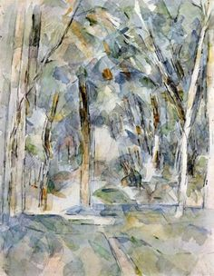 watercolor (title unknown). by Paul Cezanne  19 January 1839-22 October 1906 was a French artist and Post-impressionist painter, whose work portrayed the transition from 19th century to a new style in the 20th January.  I like the colourful/ repetitive brush stokes which he uses, especially in  his tree paintings as they really build up the depth of what he's intending to create.