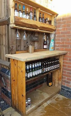 recycled pallet bar #outdoorfurniture