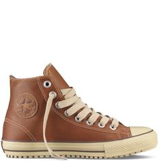 Converse Boot Hi Top, leather, in pinecone.
