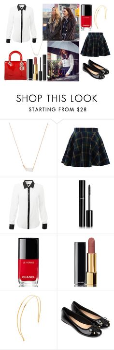 """""""DIY Halloween Costume : Blair Waldorf"""" by stellapi19 ❤ liked on Polyvore featuring Kendra Scott, Christian Dior, Chicwish, Chanel, Mrs. President & Co. and Accessorize"""