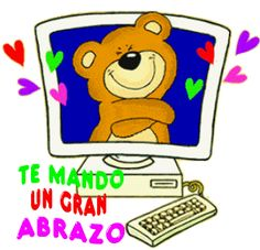 Abrazo Virtual Gif, Abc Preschool, Hug Images, Grammar Book, Stickers Online, Hug You, Love Messages, Happy Day, Winnie The Pooh