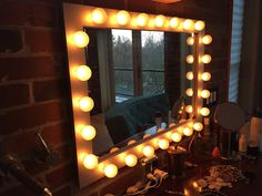 https://flic.kr/p/ConQkR | Lighted Vanity Mirror | Custom Lighted Frame Made By: WoodUBeMine Mirror Shop  Thank You Kelly for sharing your BEAUTIFUL lighted vanity mirror bathroom set up!! WE LOVE IT!!!! :)