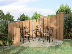 Tree Fence Ideas | Unique Privacy Fence Mais