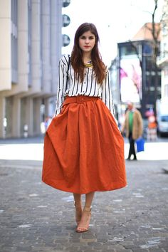 The Fashion Fraction: THE ORANGE SKIRT