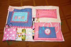 the inside view of My little sewing book Pot Holders, Coin Purse, Lunch Box, Purses, Sewing, Books, Etsy, Handbags, Livros