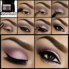 Get this look using Mary Kay Eye Shadows Ballerina Pink along with Sweet Cream Visit my website www.marykay.ca/apuech