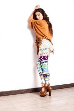 Colourful aztec leggings www.nr1leggings.com