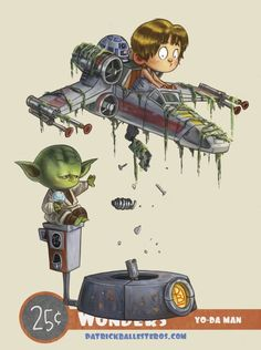 Browse all products in the 25 Cent Wonders category from Patrick Ballesteros Art. Star Wars Cartoon, Chibi Marvel, Star Wars Droids, War Comics, Star Images, Star War 3, Star Wars Humor, Baby Cartoon, Anime