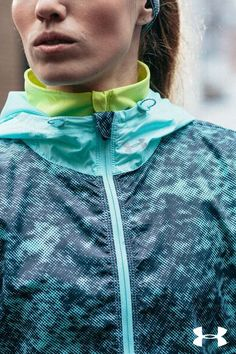 Women's Under Armour Layered Up Storm Jacket. Ready take on the elements and miles head on.
