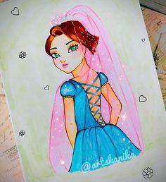 Princess disney rapunzel fairy weddingdisney Disney Rapunzel, Princess Disney, Disney Inspired, Fashion Sketches, Disney Characters, Fictional Characters, Aurora Sleeping Beauty, My Arts, Fairy