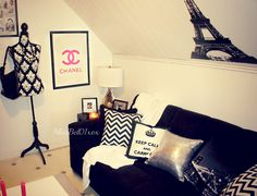 Chanel Themed Bedroom | ... to know where I bough my decorations in my bedroom or living room