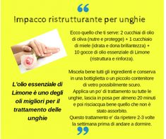 Impacco ristrutturante per unghie Diy Spa, E 10, Natural Essential Oils, Remedies, Herbs, Pure Products, Medici, Green, Culture