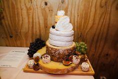 Cheese Tower Wedding Cake - Chris Barber Photography | Jenny Packham Blush Ombre Wedding Dress | Valentino Rockstud Shoes | Zara & ASOS Bridesmaid Separates | London Fields Brewery