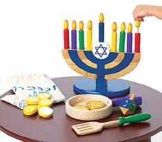 Chanukah set we got last year, my daughter loves to put her candles in while we all light our menorahs at the community party on the last night