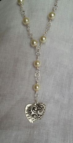 hearts and pearls necklace £5.00