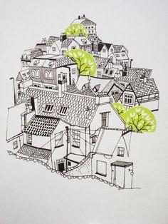 Cityscape Screenprint - Karolin Schnoor