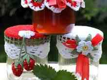Jar lid for fruits - Sweet Fruits nicely wrapped