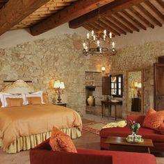 OMG!!!! Love this!!! Castello di Casole is an historic castle restored to a small boutique hotel in Tuscany, Italy.