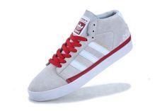 Adidas Skate Rayado Mid Cool Grey Varsity Red under $ 60.00