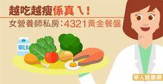 越吃越瘦係真ㄟ!女營養師私房:4321黃金餐盤 | 減重營養 | 減重塑身 | 華人健康網