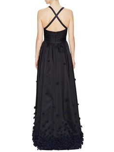 Floral Cross Back Gown by Temperley London at Gilt