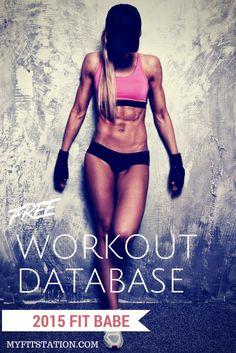 MFS Workout Database - Free Workouts (HIIT, gym, AMRAP, WOD, functional training, Tabata, etc.) via www.myfitstation.com #workout