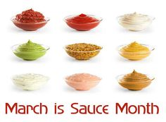 March is Sauce Month