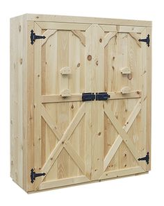 Exterior View of a Double Door Cabinet with X Style Doors and Standard Latches