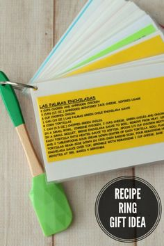 Recipe Ring Gift Idea on { lilluna.com } Practical and inexpensive!