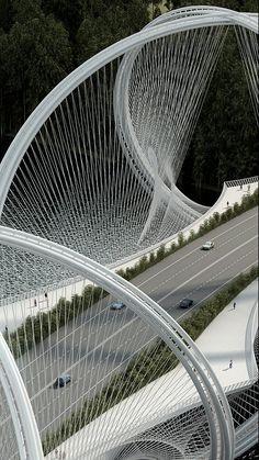 Se comenzó en China la construcción de un puente escultural en honor a los juegos de invierno 2022.