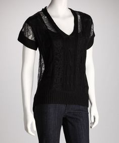 Take a look at this Black Crocheted Top by Boundary & Co. on #zulily today!