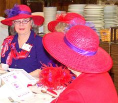 Red Hat Ladies Society -. Red Hat Ladies, Wearing Purple, Red Hat Society, Red Purple, Pink, Red Hats, Pistols, Old Women, Lady In Red