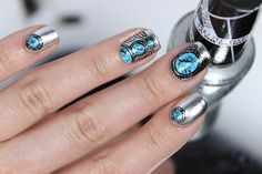 Glitterfingersss in english: WNAC June | Turquoise Patterns