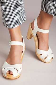 Swedish Hasbeens Suzanne Heeled Clogs