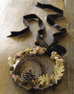 vine-and-leaf crown (to wear on your head, yes) DIY craft