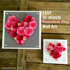 Easy 10-Minute Valentine's Day Wall Art! (With a free downloadable template!) Also perfect for a handmade wedding gift.